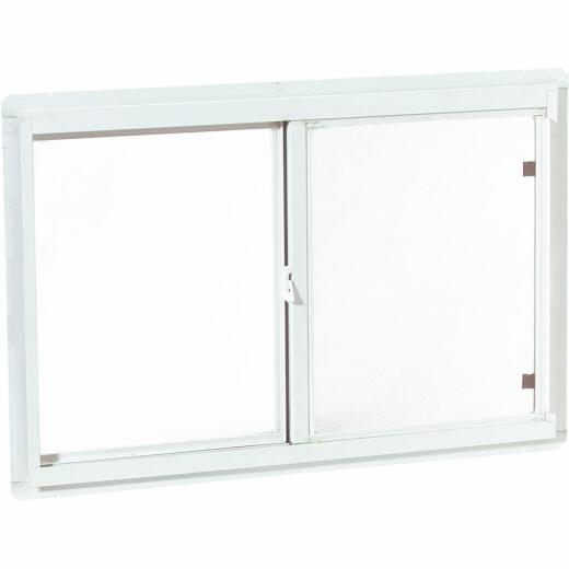 Croft Series 70 47 In. W. x 35 In. H. White Aluminum Sliding Window with Screen