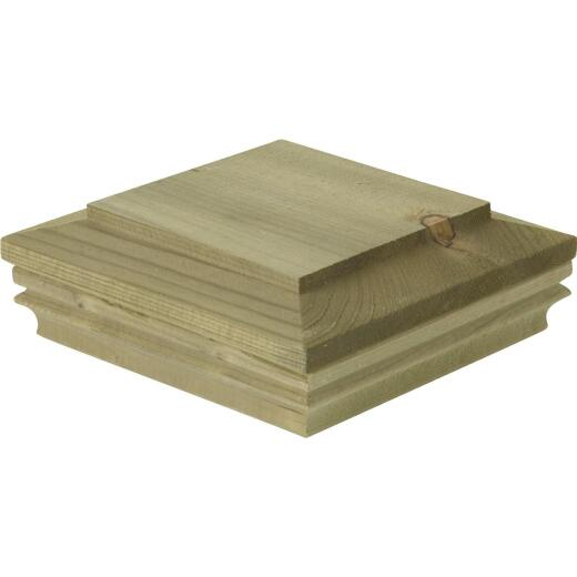 Deckorators 6 In. x 6 In. Pressure-Treated Pine Press-On Post Cap
