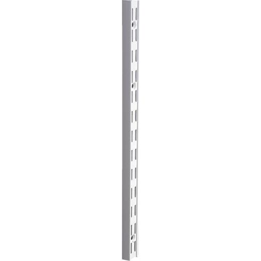Knape & Vogt 82 Series 16-1/2 In. White Steel Heavy-Duty Double-Slot Shelf Standard