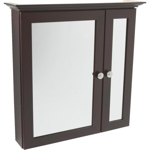 Continental Cabinets Java 25 In. W x 24-3/4 In. H x 5-1/2 In. D Bi-View Surface Mount Medicine Cabinet