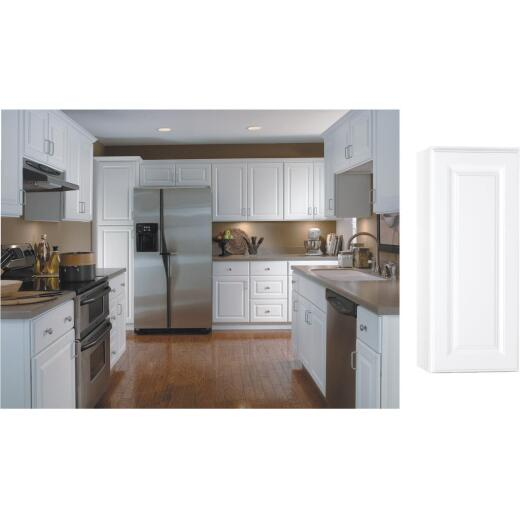 Continental Cabinets Hamilton 12 In. W x 30 In. H x 12 In. D Satin White Maple Wall Kitchen Cabinet