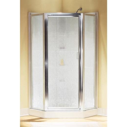 Sterling Intrigue 27-9/16 In. W. X 72 In. H. Neo-Angle Chrome Rain Glass Hinged Shower Door