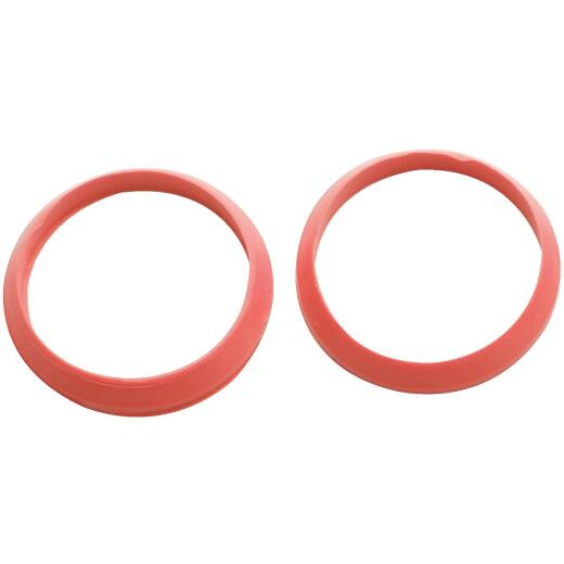 Do it 1-1/4 In. x 1-1/4 In. Black Rubber Slip Joint Washer (2 Pack)