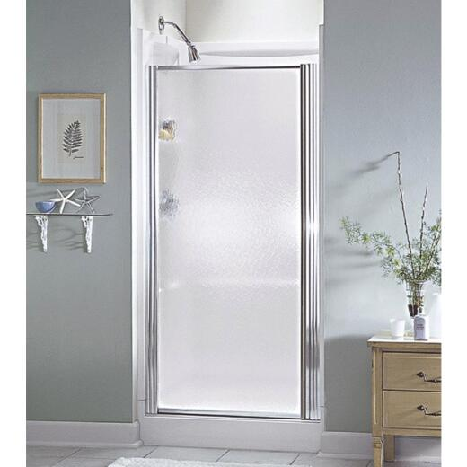 Sterling 25 In. W. X 64 In. H. Chrome Hammered Glass Standard Pivot Shower Door