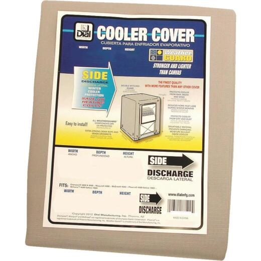 Dial 34 In. W x 34 In. D x 40 In. H Polyester Evaporative Cooler Cover, Side Discharge