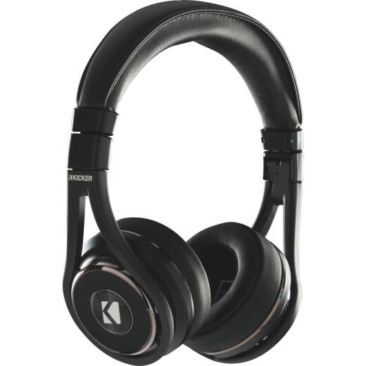 Kicker CushBT Bluetooth Wireless/Wired Black Headphones