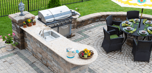 Patio Furniture with grilling station